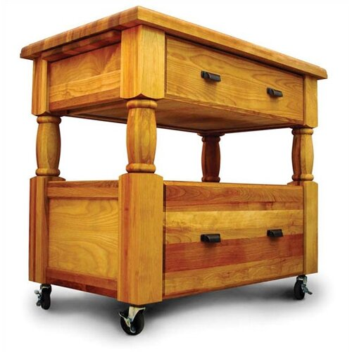 Catskill Craftsmen, Inc. Island Europa Kitchen Cart with Butcher Block Top