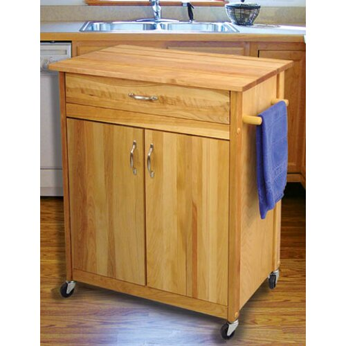 Mid size kitchen island with butcher block top amp reviews wayfair