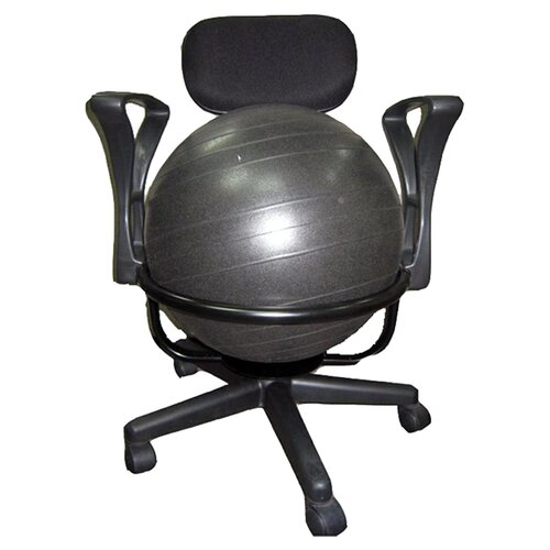 Balance Ball Chair Frame Only: AeroMAT Low-Back Deluxe Ball Chair & Reviews