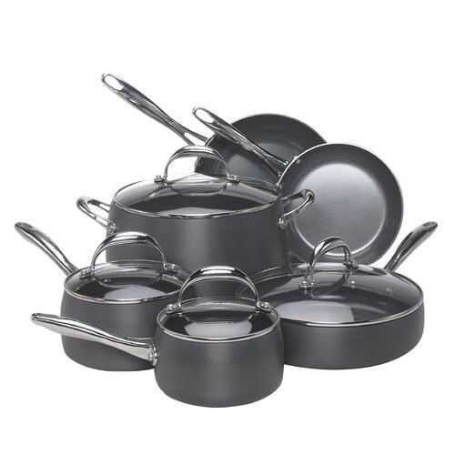 Hard-Anodized Aluminum 10-Piece Cookware Set
