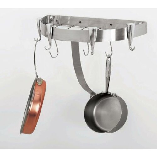 Concept Housewares Half Round Wall Mounted Pot Rack