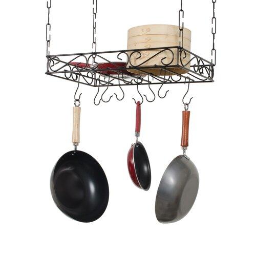 Concept Housewares Metal Pot Rack