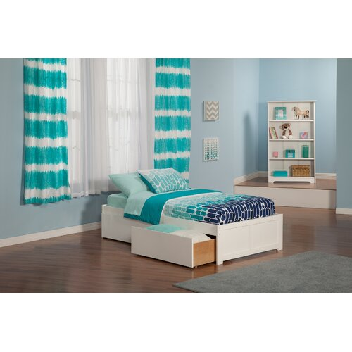 Atlantic Furniture Urban Lifestyle Concord Platform Bed with Bed Drawers Set
