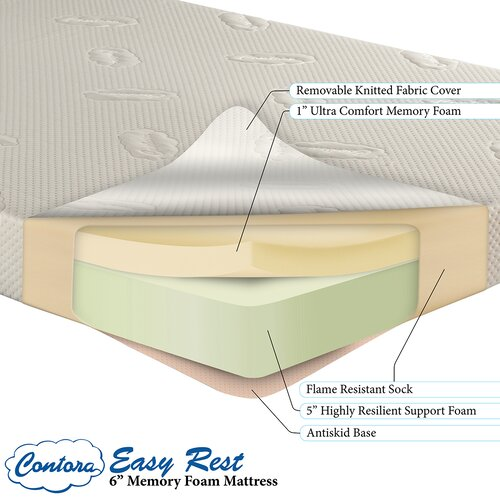 "Atlantic Furniture Contora Easy Rest 6.25"" Memory Foam Mattress"
