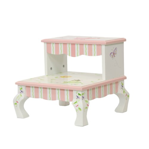 Teamson Kids Princess and Frog 2-Step Crown Step Stool