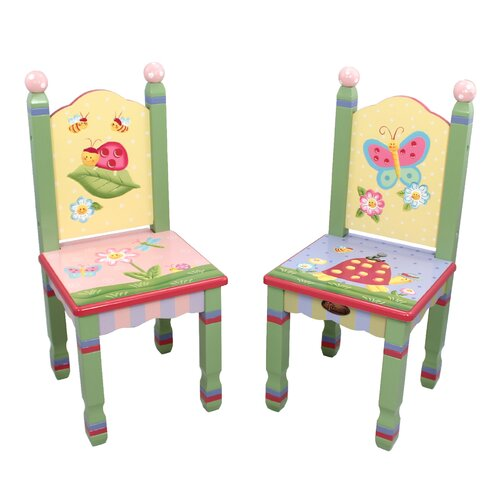 Magic Garden Additional Kid's Desk Chairs (Set of 2)
