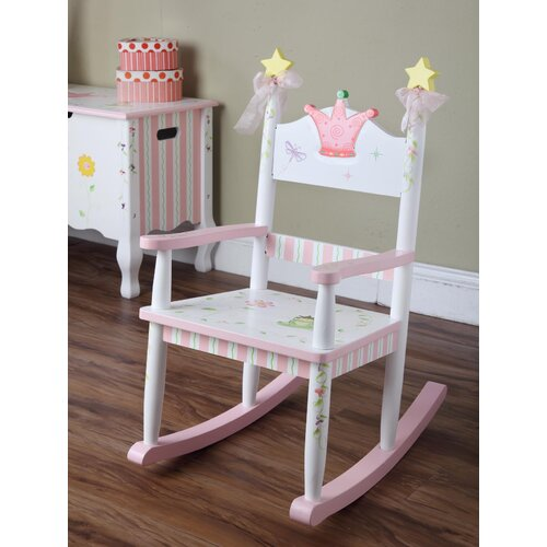 Teamson Kids Princess and Frog Crown Kid's Rocking Chair