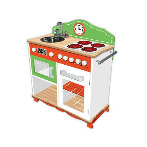 Teamson Kids My Little Chef Play Kitchen with Electrical Stove