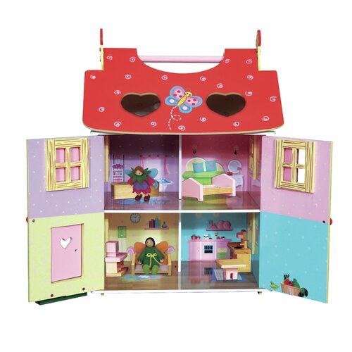 Teamson Kids Magic Garden Hand Carry Dollhouse