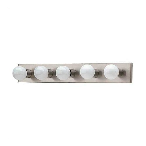 Sea Gull Lighting Brushed Stainless Hollywood Vanity Light