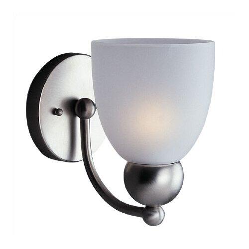 Sea Gull Lighting Metropolis 1 Light Vanity Wall Sconce with Glass Shade