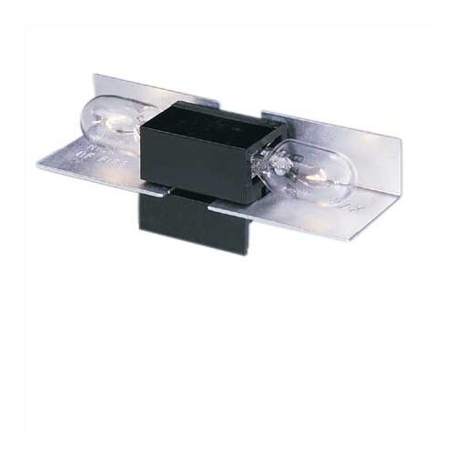 Ambiance® LX Linear Track Lighting Two Socket Lampholder in Black