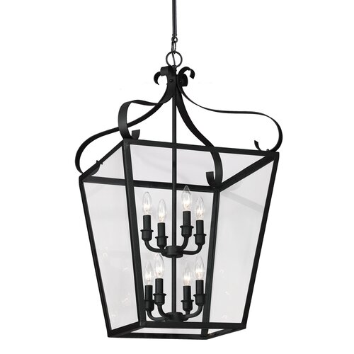 Lockheart 8 Light Foyer Lantern Pendant