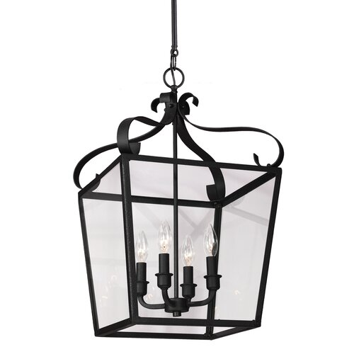 Lockheart 4 Light Foyer Lantern Pendant