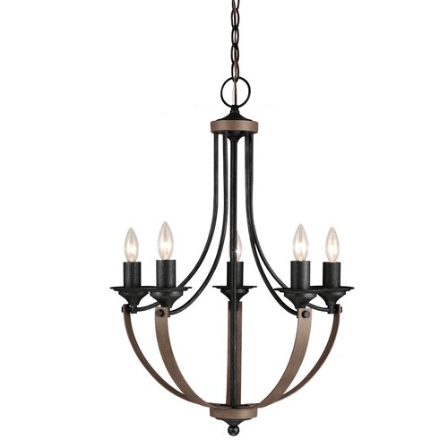 Corbeille 5 Light Candle Chandelier