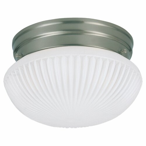 Sea Gull Lighting 1 Light Fluorescent Flush Mount