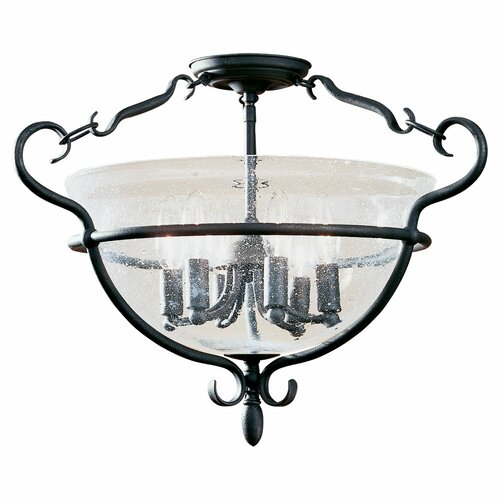 Sea Gull Lighting Manor House 6 Light Semi Flush Mount