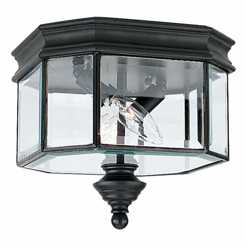 Sea Gull Lighting Hill Gate 2 Lights Outdoor Flush Mount