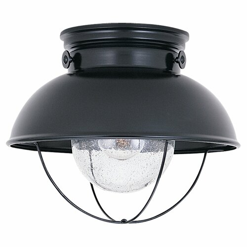 Sea Gull Lighting Sebring 1 Light Outdoor Flush Mount
