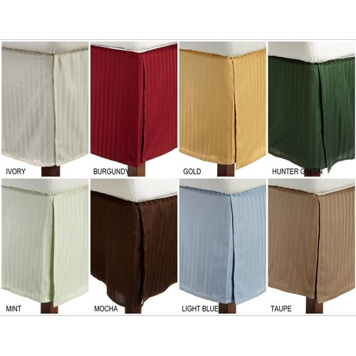 Simple Luxury 300 Thread Count Egyptian Cotton Stripe Bed Skirt