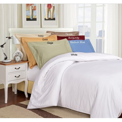 1000 Thread Count Solid 3 Piece Solid Duvet Cover Set