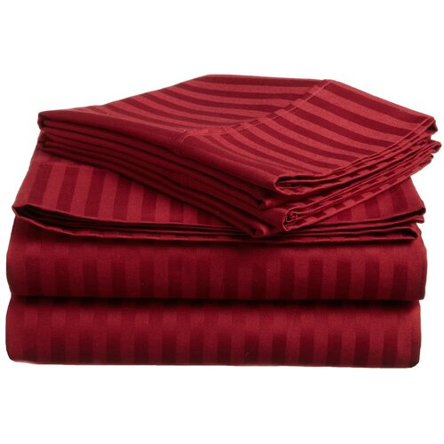 Simple Luxury 400 TC Egyptian Cotton Stripe Sheet Set