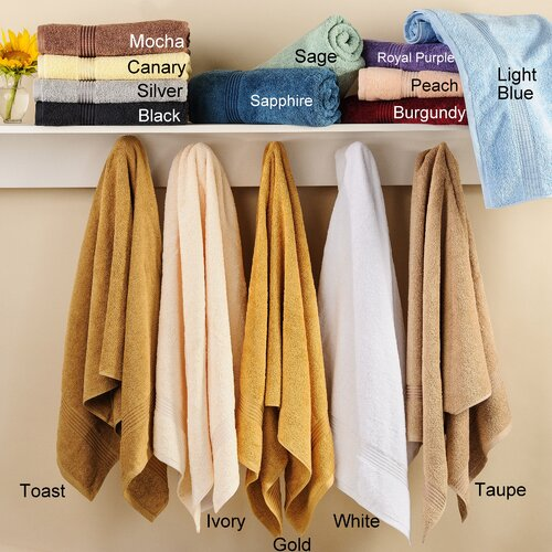 Simple Luxury Egyptian Cotton 600gsm 6 Piece Towel Set
