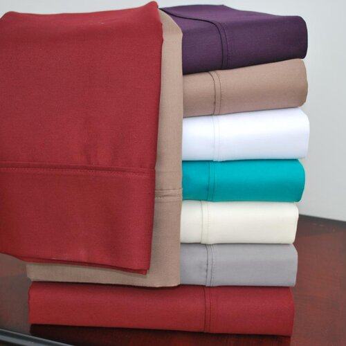 Simple Luxury Cotton Rich 800 Thread Count Solid Pillowcase Pair