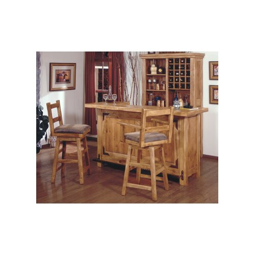 "Artisan Home Furniture Lodge 100 30"" Swivel Arm Bar Stool"