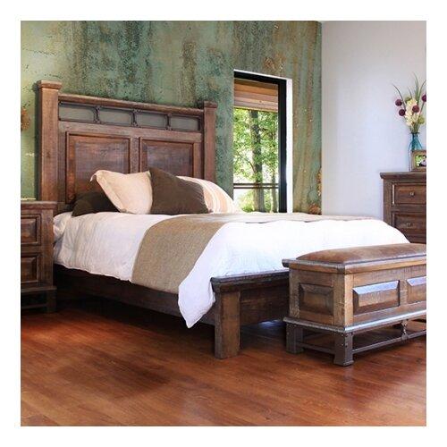 Golden Antique Panel Bed