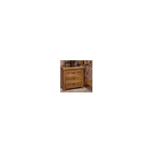 Artisan Home Furniture Lodge 100 3 Drawer Nightstand