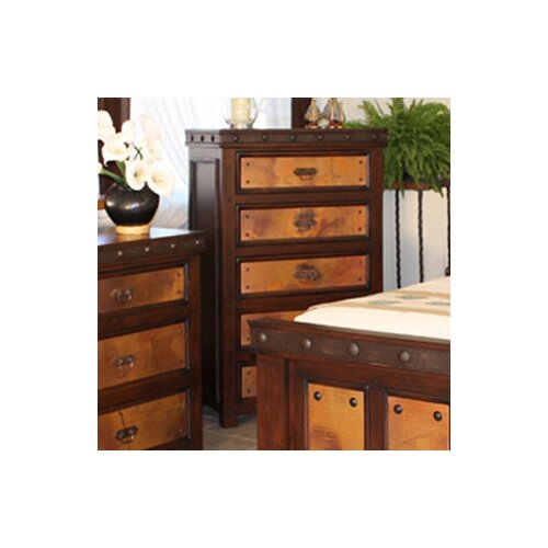 Artisan Home Furniture Copper Canyon Distressed 5 Drawer Chest