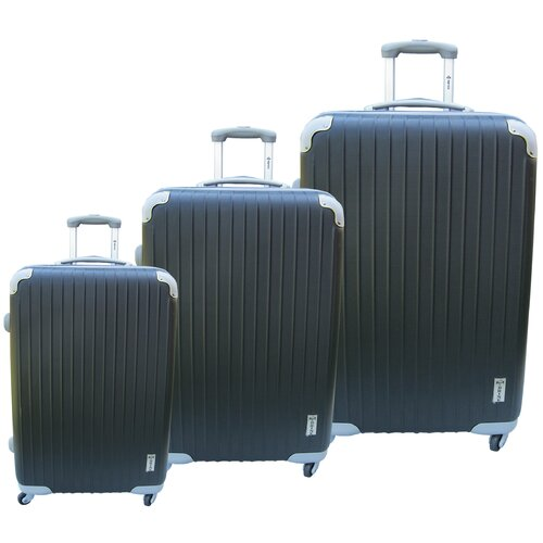 McBrine Luggage Eco-friendly 3 Piece Upright Luggage Set