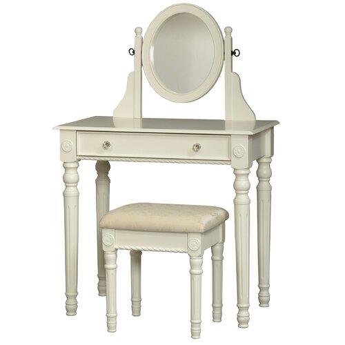 Linon Mission Hills Vanity Set: Linon Lorraine Vanity Set With Mirror & Reviews