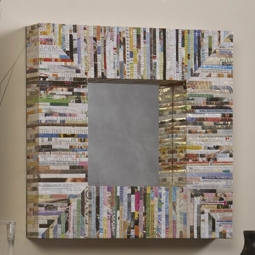 Linon Magazine Square Mirror