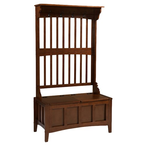 linon jeremiah hall tree with storage bench reviews