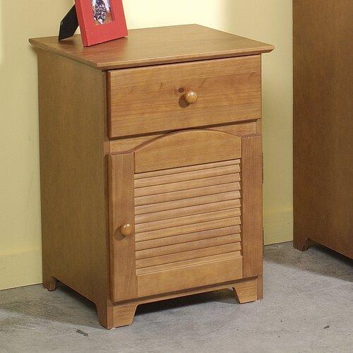 Linon Shutter 1 Drawer Nightstand