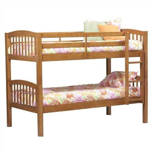 Linon Twin Bunk Bed with Built-In Ladder