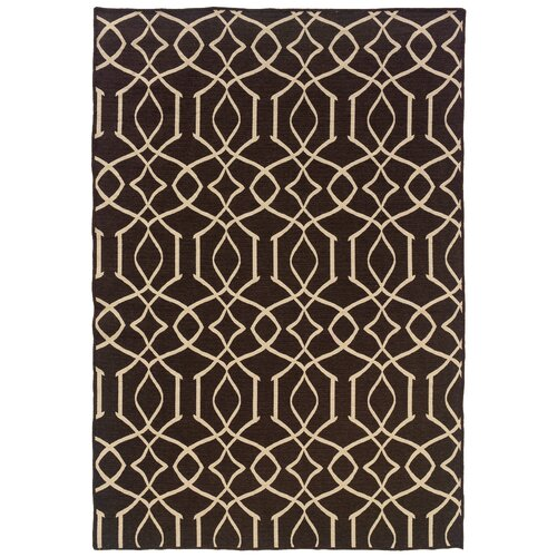 Linon Salonika Brown Irongate Rug