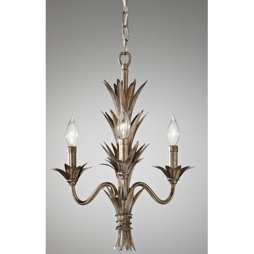 Feiss Flora 3 Light Mini Chandelier