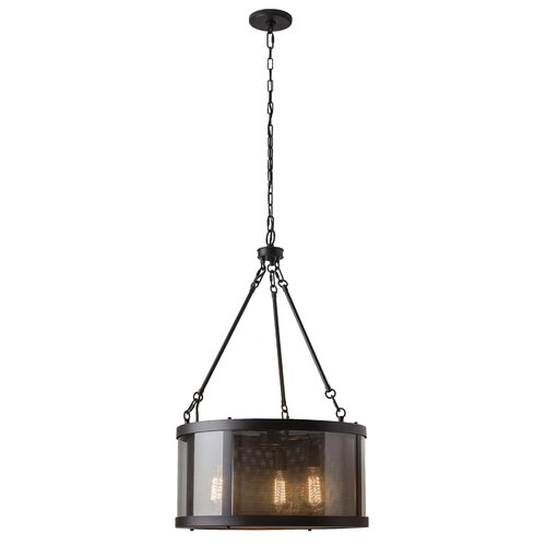 Bluffton 3 Light Drum Chandelier