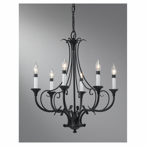 Feiss Peyton 6 Light Chandelier
