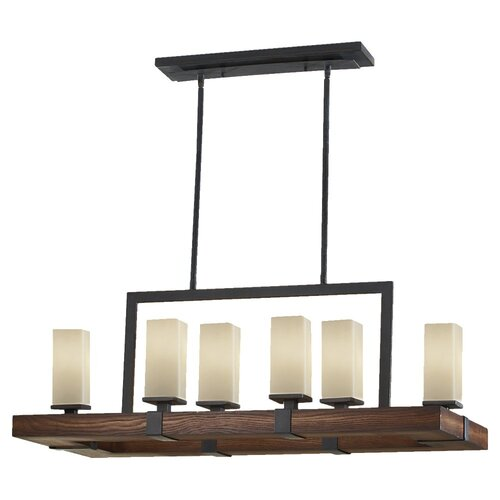 Feiss Madera 6 Light Kitchen Island Pendant