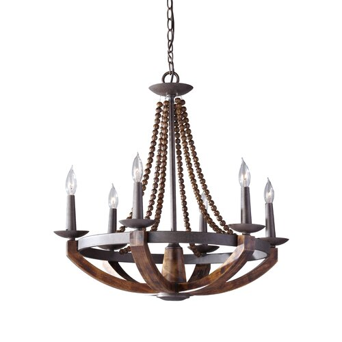 Feiss Adan 6 Light Chandelier