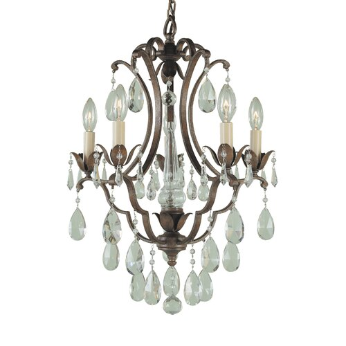 Feiss Maison De Ville 5 Light Mini Chandelier