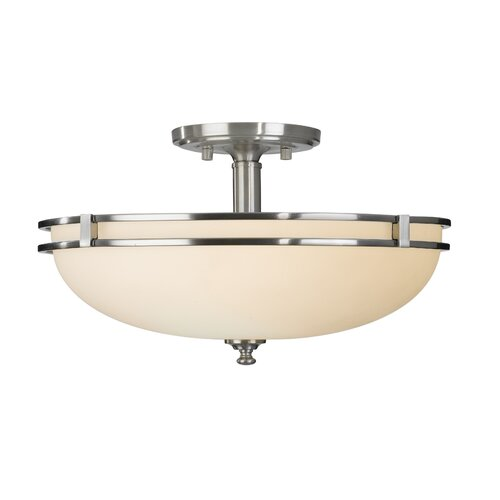 Feiss Kellenberg 2 Light Semi Flush Mount