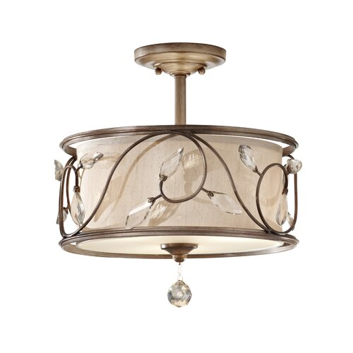 Feiss Priscilla 3 Light Semi Flush Mount