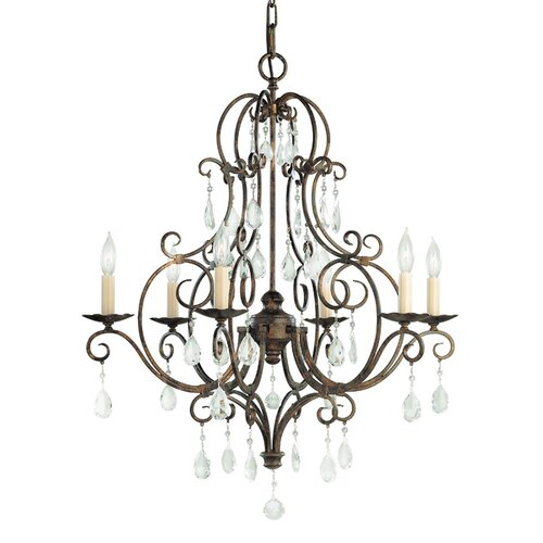 Feiss Chateau 6 Light Chandelier