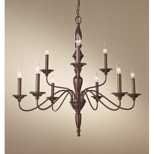 Feiss Yorktown Heights 9 Light Chandelier