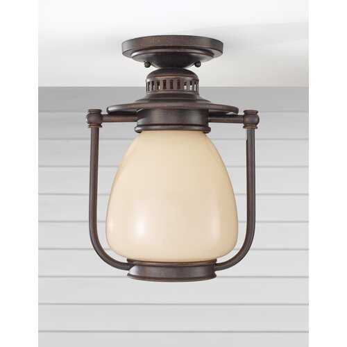 Feiss McCoy 1 Light Outdoor Flush Mount